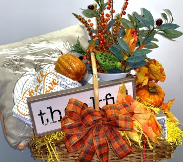 Large Fall Home Goods Basket