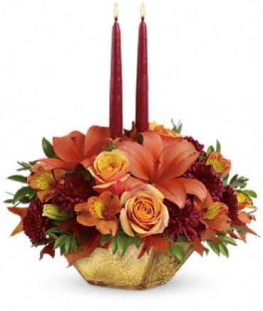 Harvest Gold Centerpiece