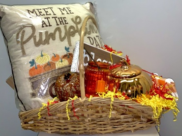 Small Fall Home Goods Basket