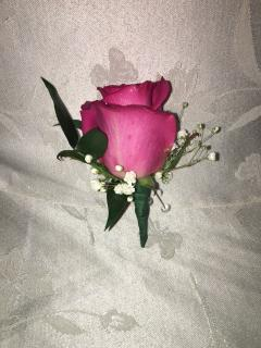 Dashing Pink Boutonniere