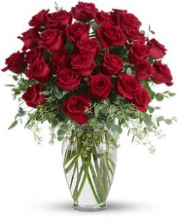Forever Beloved - 30 Long Stemmed Premium Red Roses